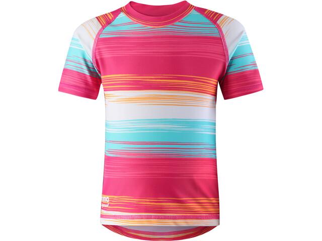 Reima Azores Swim Shirt Girls, candy pink